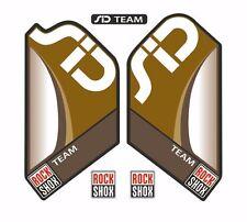 Rock Shox SID Team Mountain Bike Cycling Factory Style Decal Kit Sticker Gold