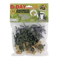 BMC World War II D-Day Invasion of Normandy Bagged Playset - 34 Pieces 54mm S...