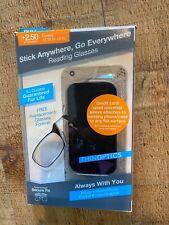 ThinOptics Black Universal Pod Case, +2.50 Black Reading Glasses UPB2.5BLACKISR