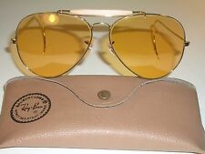B&L RAY-BAN CHANGEABLES AMBERMATIC WRAP-AROUNDS OUTDOORSMAN AVIATOR SUNGLASSES