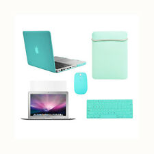 """5in1 Rubberized Hot Blue Case fr Macbook PRO15"""" A1398/Retina +Key+LCD+ Bag+Mouse"""