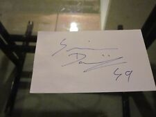 Dominik Simon Signed Autographed 3X5 Index Card-Penguins