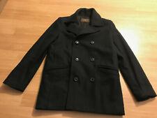 Merona Peacoat Overcoat Jacket Navy Dark Blue Wool Blend Men's Small