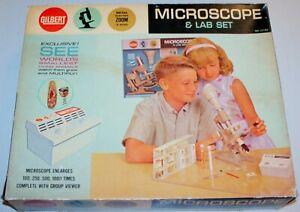 Vintage A.C. Gilbert No.13104 Microscope & Lab Kit in Original Box !