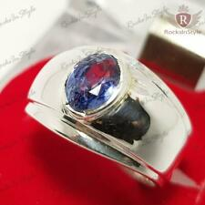 2 Ct AAA Clear Cornflower Blue Natural Sapphire Sterling Silver Ring Size 7-13