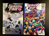 Fantastic Four 4 2018 Main + Uncanny X-Men Variant Set Marvel NM