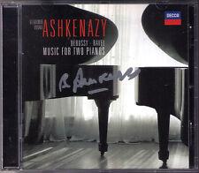 Vladimir Ashkenazy SIGNED Debussy grafica Ravel valse Rhapsody e acuto CD Vovka
