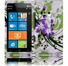 For AT&T Nokia Lumia 900 HARD Protector Case Snap On Phone Cover Green Lily