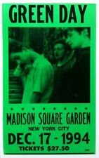 """Green Day Concert Poster - 1994 - Madison Square Garden - NYC - 14""""x22"""""""