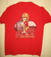 49ERS Shirt XL Joe Montana Golden Gate 16 Niners NFL San Francisco OOP RARE HTF