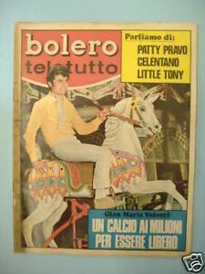CELENTANO TONY PRAVO BOLERO TELETUTTO 27/10/68 N°1121