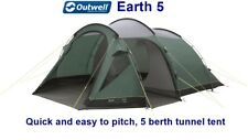 Outwell Earth 5 Tent - Simple, easy to erect 5 berth pole tunnel tent