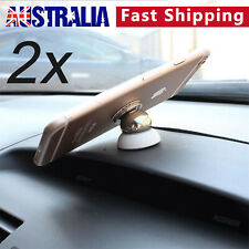 2x Universal Magnetic Ball Magnet Car Phone Holder Mount For iPhoneX 8 7 Samsung