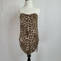 Toska Womens Leopard Print Strapless Dress Top Size Medium New With Tag
