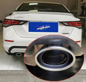 For Nissan Sentra S/SV 2020 Stainless steel Rear Exhaust Muffler Tip End Pipe