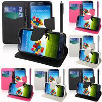 Housse Etui Portefeuille Silicone PU Effet Tissu Samsung Galaxy S4 i9500/ i9505