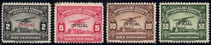 1929 Ecuador SC# CO1-CO5 - Air Post Official Stamps - 4 Different Stamps - M-HR