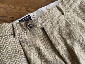 VTG J. PETERMAN Mens 36w Herringbone Tweed Heavy Wool Pants
