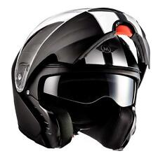 MOTO F19 RACING BLACK Motorrad-Helm Klapp-Helm Modular Integral-Helm JET - NEW