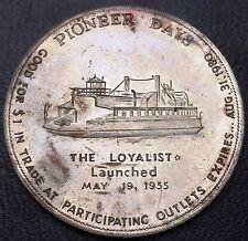 Canada 1980 Chatham N.B. Pioneer Days Trade Dollar $1 - The Loyalist 1955
