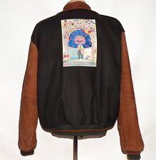 Vintage USA Made Golden Bear Varsity Leather Sleeve Tech Jacket IBM Informix