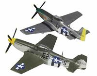 PLATZ 1/144  WW2 US P-51D MUSTANG 2 Machine Set Plastic Model Kit NEW