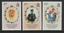 Ascension 1981 Royal Wedding set SG 302-304 Mnh.