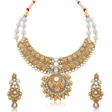 Sukkhi Fine Mango Gold Plated Choker Necklace Set For Women(N71270GLDPP1150)