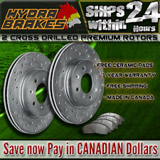 FITS 2015 2016 DODGE GRAND CARAVAN 330MM Drilled Brake Rotors CERAMIC F