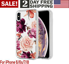 iPhone Ten XS Max 6 5 Floral Flower Pattern Shockproof Rubber Protective Case