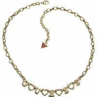 GUESS Collana donna UBN81198 oro dorato brillantini collier chic maglia cuore