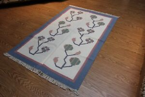 4' x 6' handmade carpet hand-woven  rug CLOSE OUT SALE PRICE