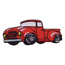 Red Hot Rod Truck 1950's Classic Applique Patch (Iron on)
