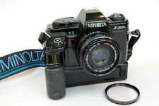 Minolta X-300s 35mm film camera with MC Rokkor-PF 50mm f2 Lens & Power Winder