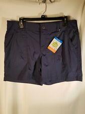 COLUMBIA Women's Kestrel Trail Shorts Size 12 navy
