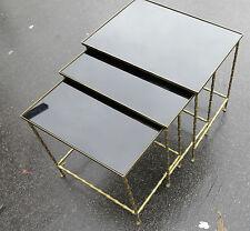 Série de 3 tables gigognes Modéle Bambou avec pieds Maison Bagués