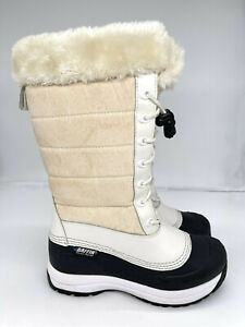 Baffin Iceland Drift Tall Womens Authentic Snow Boot White and Black Size 7US.