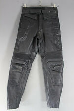SPORTEX DOLOMITE BLACK LEATHER BIKER TROUSERS - WAIST 30 INCH/INSIDE LEG 30 INCH