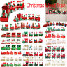 Christmas Wooden Train Santa Claus Xmas Festival Ornament Home Decor Kids Gifts