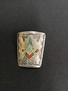 Sterling Silver Native American Bolo Tie SIGNED, 19.1 Grams