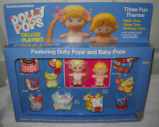 #7004  NRFB Vintage Knickerbocker Dolly Pops Deluxe Set with Dolly & Baby Pops
