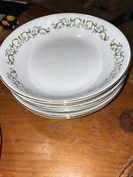"""VIntage Bell Flower Fine China 7 1/2"""" soup bowls Set of 4 Japan 2999"""
