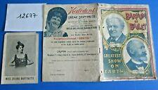 N°12677 / Cirque BARNUM et BAILEY  programme officiel  saison 1902
