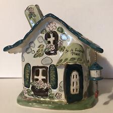 Blue Sky Clayworks Best Friends Place House Tea Light By Heather Goldminc