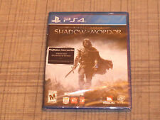 Middle Earth Shadow Of Mordor (Sony Playstation 4, 2014)  *** Factory Sealed ***