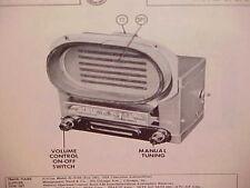 1951 1952 CHEVROLET STYLELINE FLEETLINE CONVERTIBLE AM RADIO SERVICE SHOP MANUAL