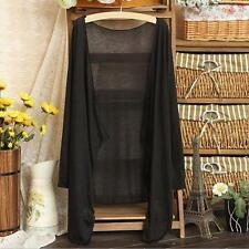 Womens Ladies Long Thin Cardigan Modal Sun Protection Clothing Tops Coat Blouse