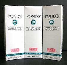 New Lot X3 *Rare* Pond'S Cleansing Lotion & Moisturizer 2-In-1 *Discontinued*