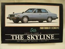 Aoshima 5th The Skyline 1977-1981 2000 Turbo GT-E-S 1:24 Model Car Kit #TS-1300