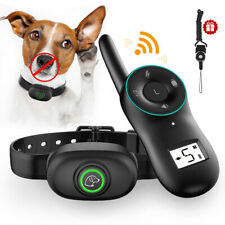 Waterproof Anti Bark Bite Dog Training Collar Shock Remote Control Rechargeable